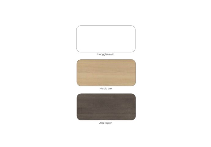Badkamermeubelset Dekker Avola 90x45x57 cm Nordic Oak