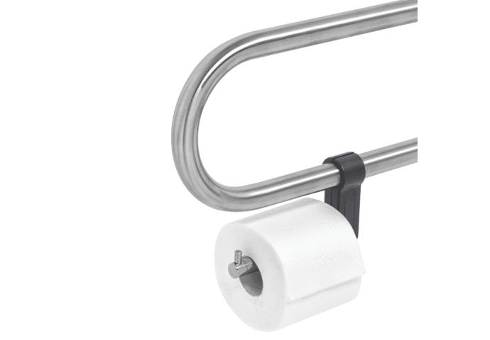 Toiletrolhouder voor Opklapbare Toiletbeugel Tiger Boston Comfort en Safety RVS