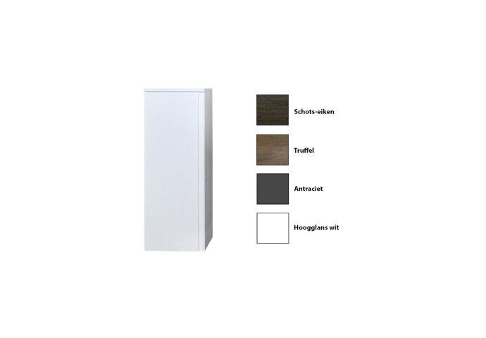 Kolomkast Sanicare Q7 Soft-Close Deur Greeploos 90x33,5x32 cm Hoogglans Wit
