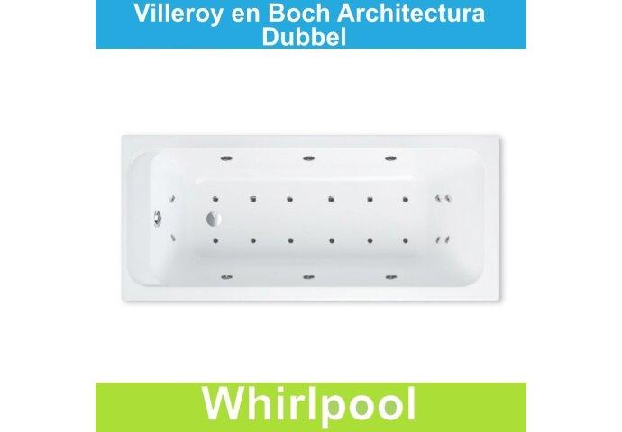 Ligbad Villeroy & Boch Architectura 170x70 cm Balboa Whirlpool systeem Dubbel   Tegeldepot.nl