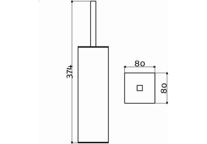 Toiletborstelgarnituur Clou Quadria Staand Model RVS Geborsteld
