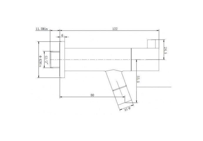 Amador Toiletkraan inbouw chroom .1/2 (Kranen overige)