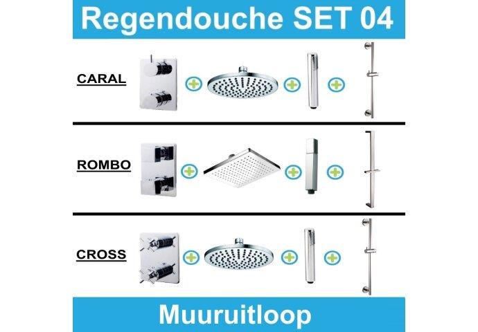 Wiesbaden inbouw regendouche set 04 (muuruitloop)