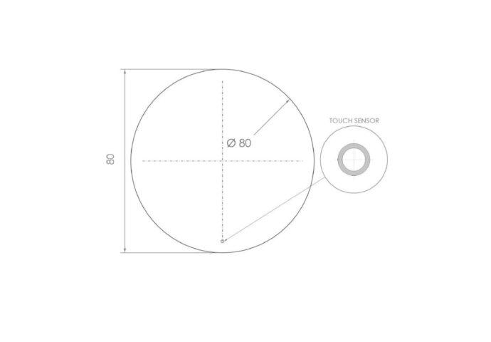 Ronde Badkamerspiegel LED BWS Spark 80 cm