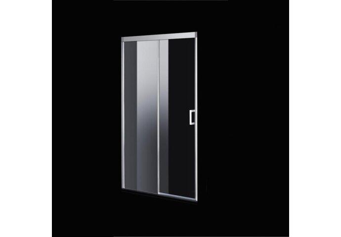 Nisdeur Boss & Wessing Linea 148x200 cm Soft-Close Aluminium Profiel Chroom
