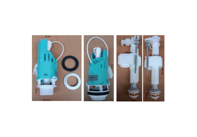 Spoelmechanisme Boss & Wessing Dual Flush Met Kabel