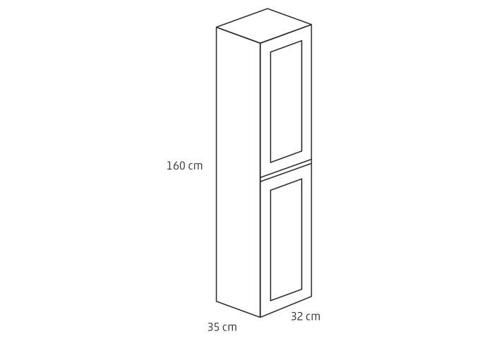 Badkamerkast Differnz Reno 160x35x32 cm Eiken