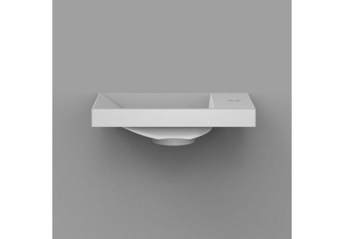 Fontein Arqua Marble Free 40x22 cm Cast Marble Rechts Vrijhangend Zonder Overloop Glanzend Wit