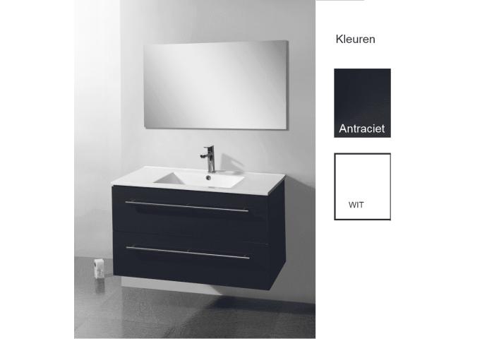 Badkamermeubelset Sanilux Keramic 90x46,5x50 cm (verkrijgbaar in twee kleuren)