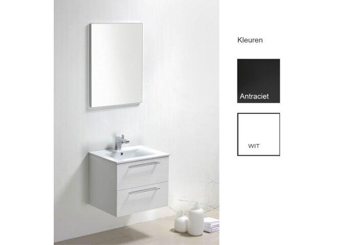 Badkamermeubelset Sanilux Roma 60x46x50 cm (in twee kleuren leverbaar)