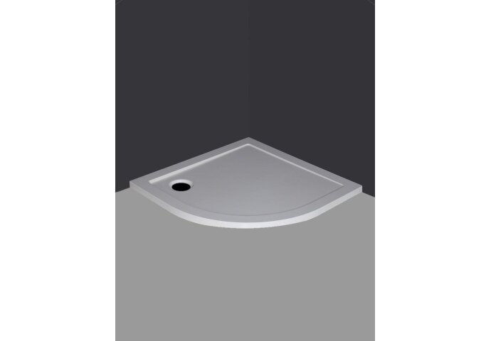 Luxe douchebak SMC 1/4 rond 90 x 90 x 4 inbouw wit small