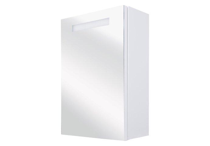Spiegelkast Differnz Elba 70x56x15 cm Met Verlichting en Stopcontact Wit