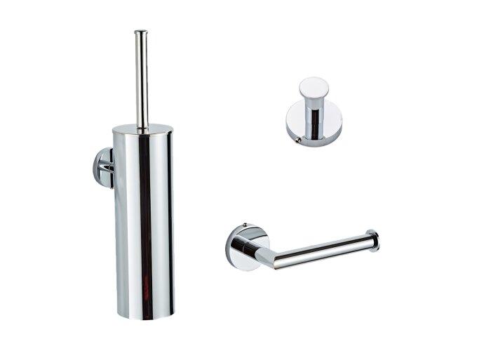 Complete Toiletborstelset BWS Talpa Messing Chroom