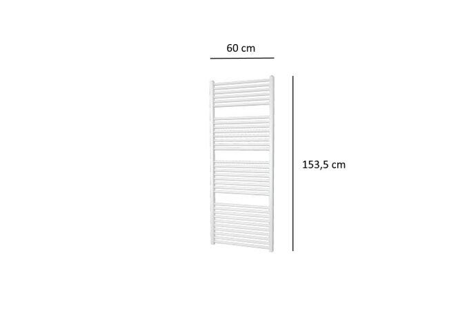 Designradiator Plieger Quadro 886 Watt Zijaansluiting 153,5x60 cm Wit