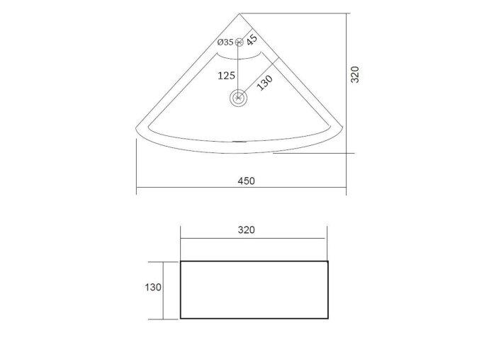 Fonteinset Best Design Floor One Pack Hoekmodel 32.5x32.5cm   Tegeldepot.nl