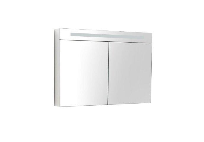 Spiegelkast Sanilux Deluxe 80x70x16cm met TL verlichting en stopcontact Hoogglans Wit