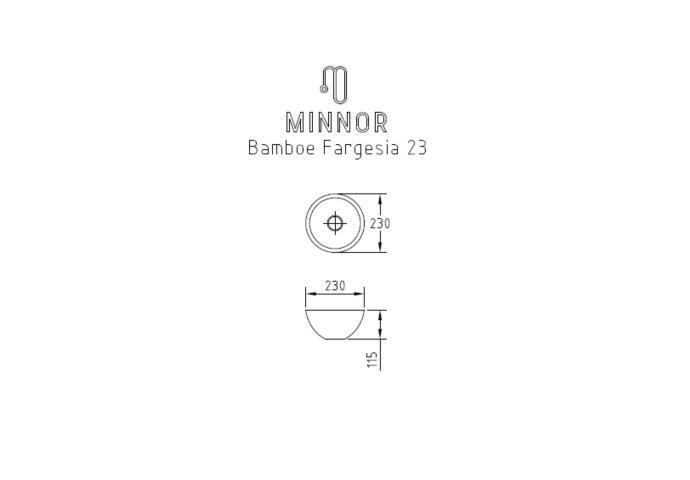 Waskom Minnor Fargesia 23x11.5 cm Bamboe Caramel