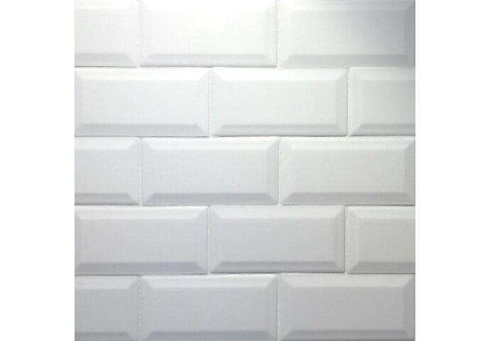 Wandtegel Metro 10x20 hoogglans wit (p/m2)