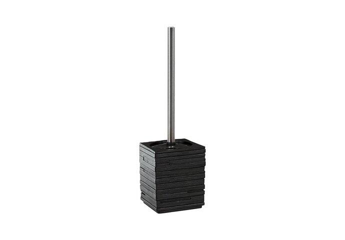 Toiletborstelhouder Sapho Quadrotto Vrijstaand 38x9.5 cm Polyresin Zwart
