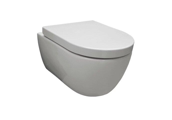 Hangtoilet Sanilux Easy Flush Compact Randloos 48cm (incl. zitting)