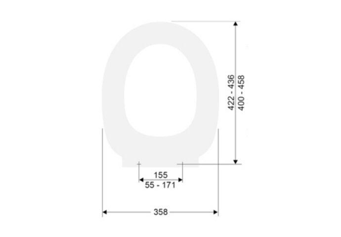 Closetzitting Plieger Royal Met Softclose en deksel Topfix wit