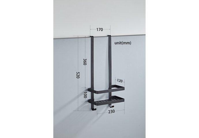 Doucherek Boss & Wessing Nero voor Douchewand 52x23x12 cm Mat Zwart