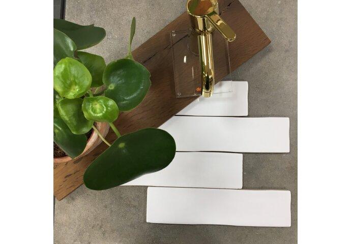 Wandtegel Eco Bronx Blanco 7.5x30 cm Wit (Doosinhoud 0.56 m2)