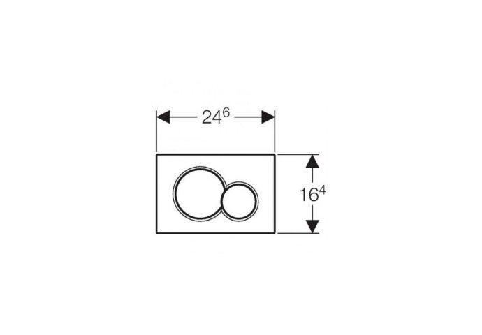 Bedieningsplaat Geberit Sigma 01 + DuoFresh Geurzuiveringssysteem Chroom Met Matverchroomde Toetsen
