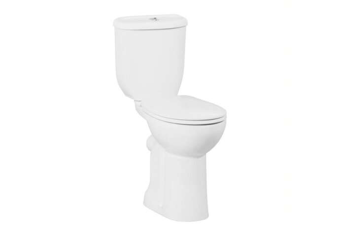 Toiletpot Staand Boss & Wessing Mala Verhoogd Met Bidet Achter Aansluiting Wit (PK)