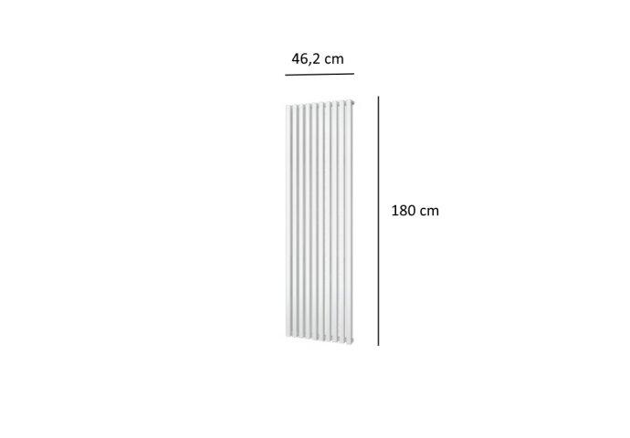 Designradiator Plieger Siena Enkele Variant 1094 Watt Middenaansluiting 180x46,2 cm Wit