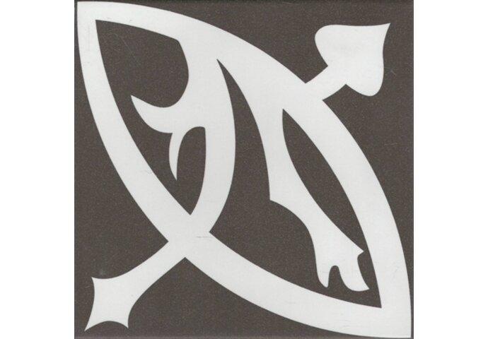 Douglas & Jones Vloer en Wandtegel Vintage Zelie Noir 20x20 cm