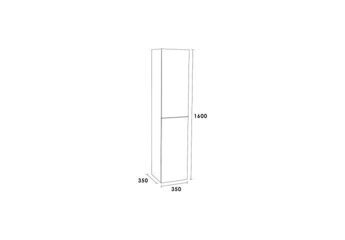 Hoge Kast IQ160 Exclusive Line 160x35x35 Legno Antraciet