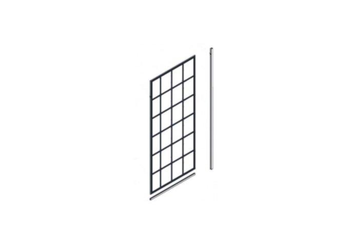 Inloopdouche Best Design Black Screen 90x200 cm 10mm Nano