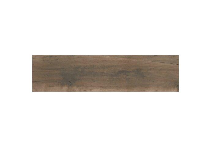 Vloertegel Alaplana Dundee 25x100 cm Caoba Mate (doosinhoud 1.25 m2)
