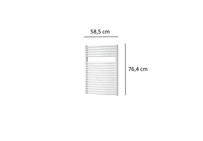 Designradiator Plieger Onda 528 Watt Zijaansluiting 76,4x58,5 cm Wit