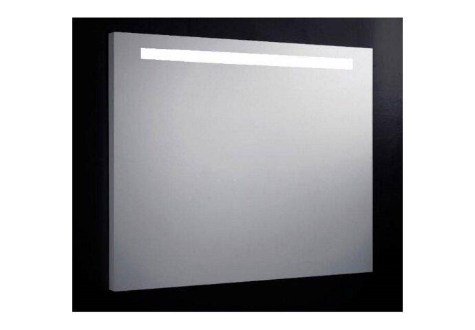 Badkamerspiegel Sanilux Aluminium met TL-Verlichting en Spiegelverwarming (ALLE MATEN)