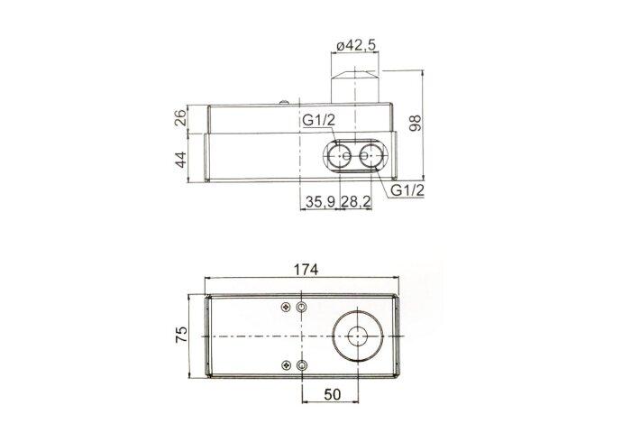 Wastafelkraan Inbouw Mavesteel Rivo428 Mengkraan Afbouwdeel met Clickwaste Geborsteld RVS (incl. inbouwdeel)