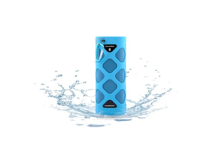 Bluetooth Sound-Box Aquasound Waterproof (IPX5) + USB oplaadkabel Blauw