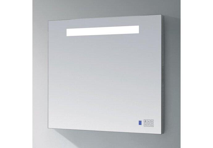 Spiegel Sanitop RADIO en LED Verlichting Aluminium Geborsteld (In 5 maten)