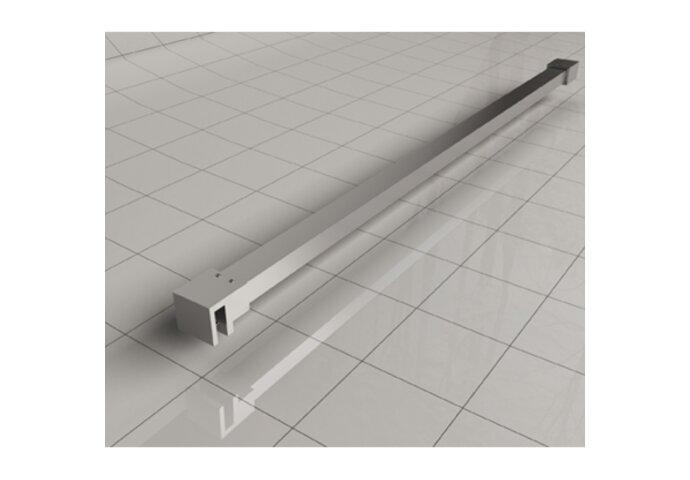 BWS Inloopdouche Pro Line Helder Glas met Twee Stabilisatiestangen Chroom (13 varianten)
