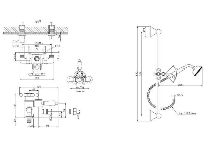 Huber Victorian Thermostatische Doucheset Chroom 190RVT01HCR