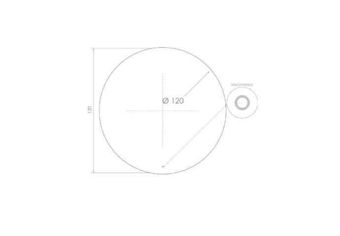 Ronde Badkamerspiegel LED BWS Spark 120 cm