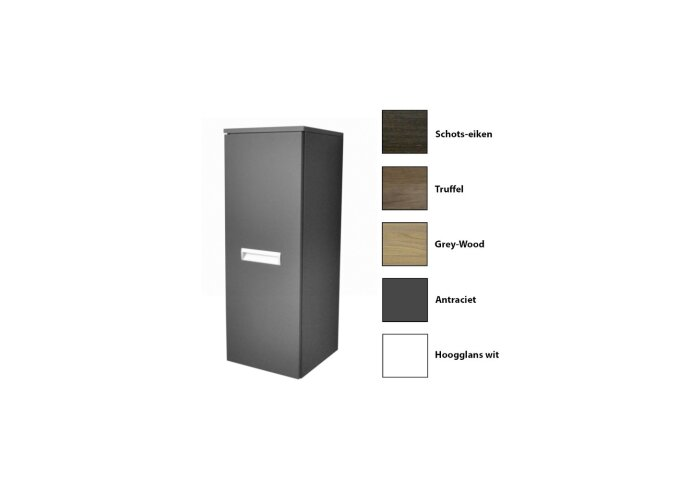 Kolomkast Sanicare Q2/Q3/Q8 Soft-Close Deur Inliggende Alu Greep 90x33,5x32 cm Grey-Wood