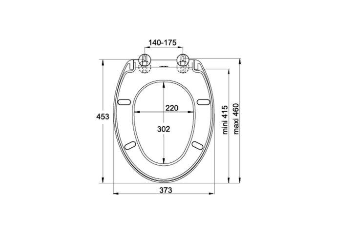 Toiletzitting Allibert Ekla Afklikbaar 37,3x7x45,3 cm Soft-Close Kunststof Wit