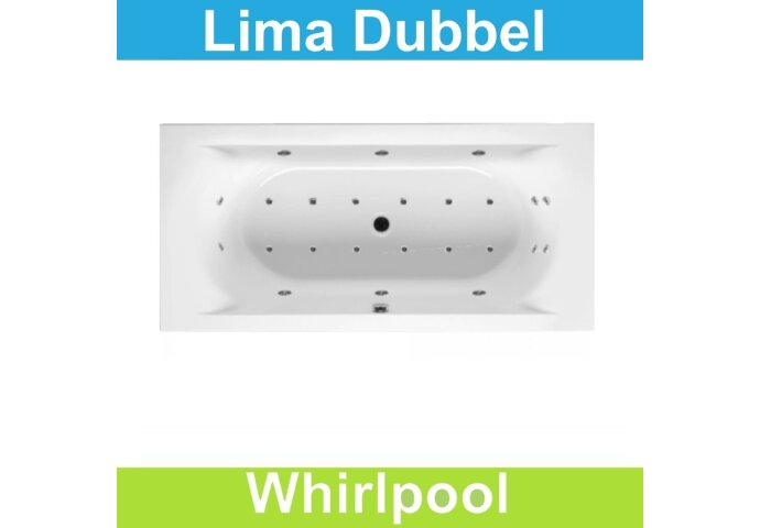 Ligbad Riho Lima 200 x 90 cm Whirlpool Dubbel systeem