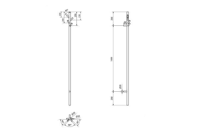Elektrische Handdoekstang Sapho Pasador incl. Timer 15x150 cm RVS