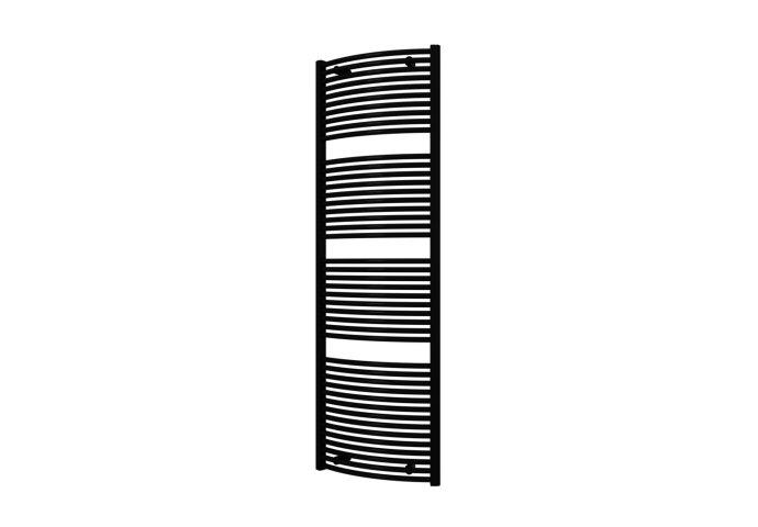 Designradiator Boss & Wessing Odro Gebogen met Zijaansluiting 180,8x58,5 cm 1112 Watt Zwart