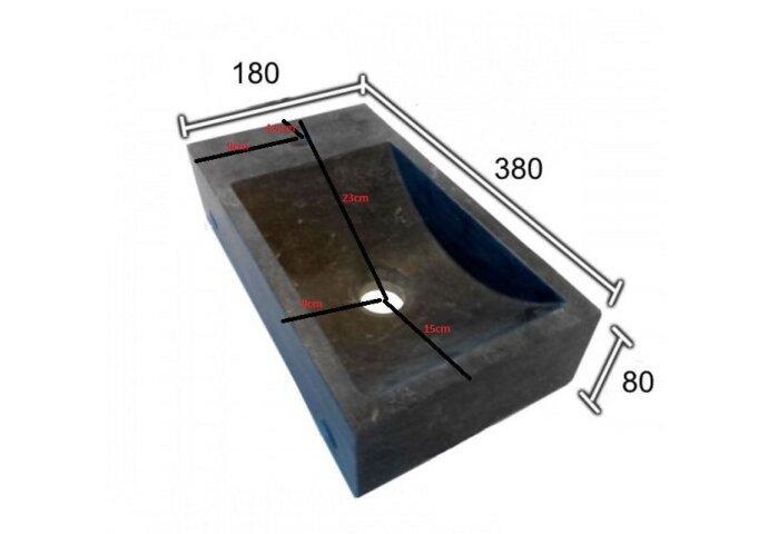 Basalt fonteinset Aiko 38x18x8 cm