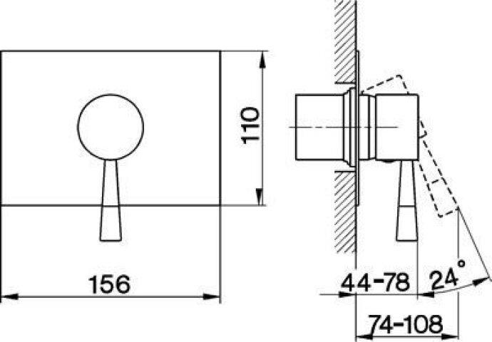 Cisal Pumpy inbouw mengkraan chroom PU00300079