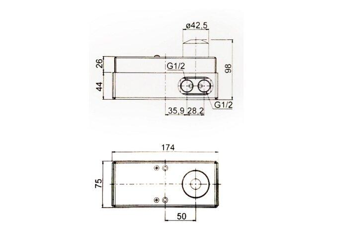 Wastafelkraan Inbouw Mavesteel Polo Mengkraan Afbouwdeel met Clickwaste Geborsteld RVS (incl. inbouwdeel)